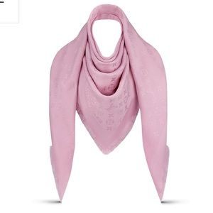 NWT $640 Louis Vuitton Monogram Velvet Rose Shawl